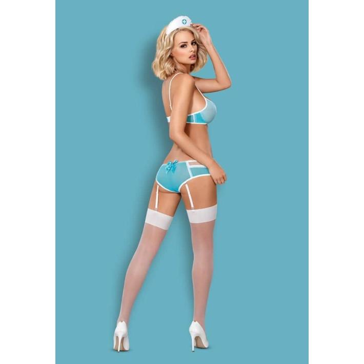 Costum Sexy 834-cst Asistenta - Albastru L/xl, S-m